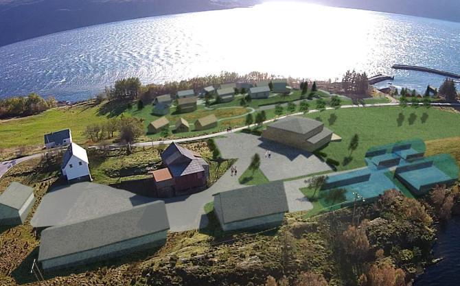 Model of Eide Ecovillage