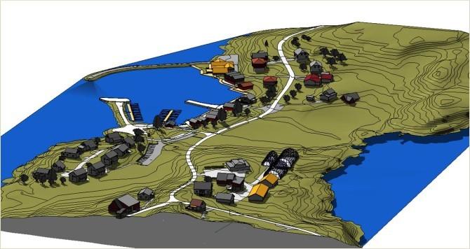 3D model of Eide Ecovillage.