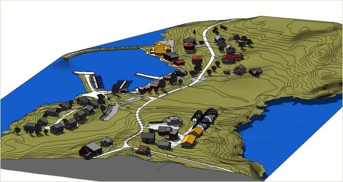 3D modell av Eide økogrend.